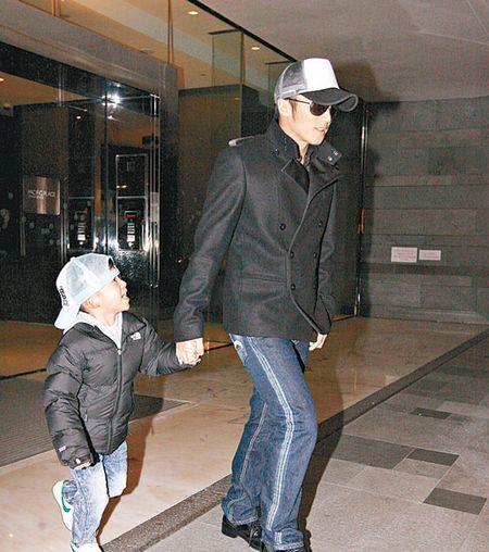 谢霆锋和儿子Lucas