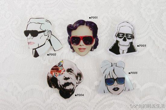 雪姨牌胸针在韩国热卖