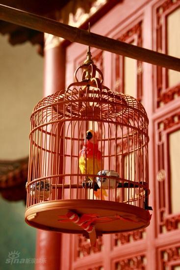 图文:红楼梦布景曝光--悬挂着的鸟笼