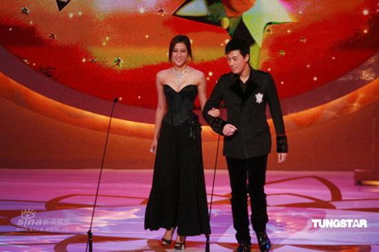 图文:TVB41周年台庆--钟嘉欣林峰携手登台