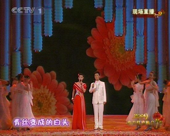 图文:09年央视春节晚会--歌曲《感谢亲人》