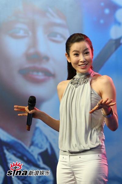 图文:《七公主》长沙宣传--李泰兰表情丰富