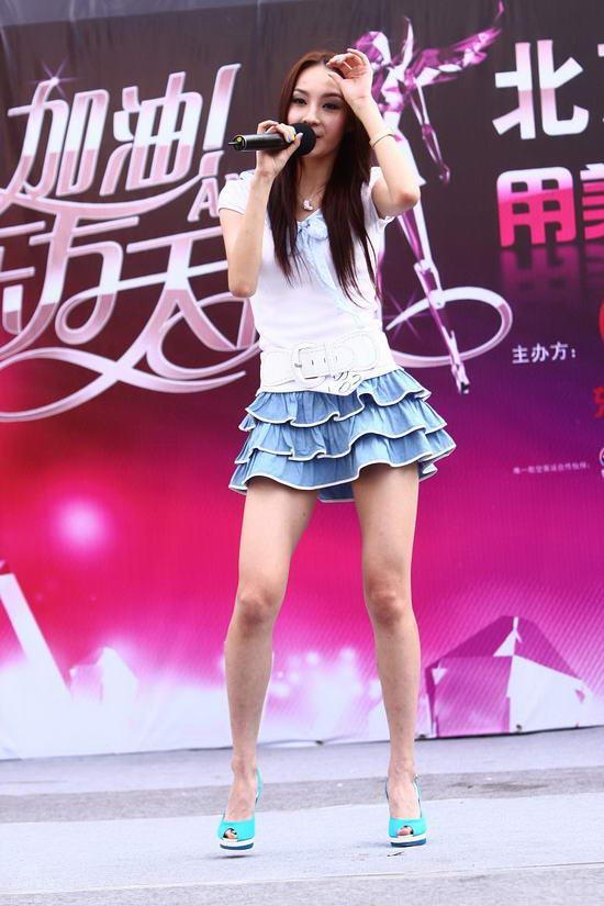 """图文:""""天使""""北京海选--李一冉歌舞俱佳"""
