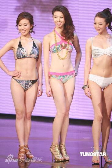 图文:2009香港小姐总决赛--佳丽摆POSE