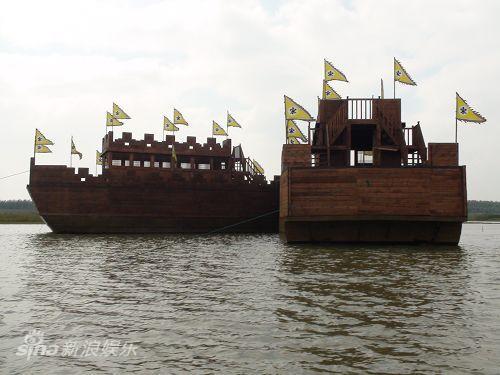 图文:水浒战船--大清河停泊的战船