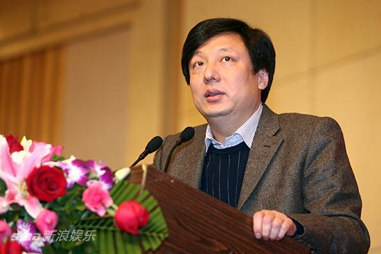 图文:《奠基者》发布会-央视影视部副主任黄海涛