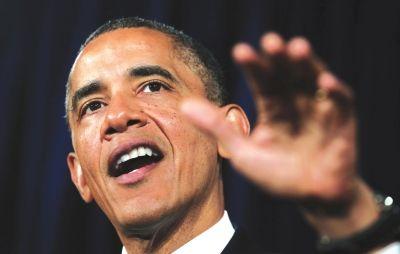 奥巴马7日在加利福尼亚州发表讲话 新华社照片