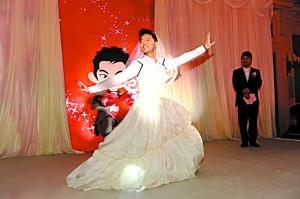 胡可沙溢姐弟恋修成正果新娘逼新郎反串跳热舞