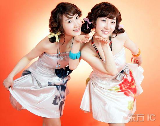 韩国双胞胎抒情美女