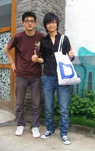 歌手娇娇和设计师共同推广实用环保袋(附图)