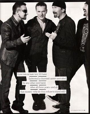 U2:不能充分认识自己的潜力是一种背叛