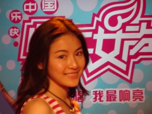 郑州快女贡米清纯靓丽与张柏芝酷似双胞胎(图)