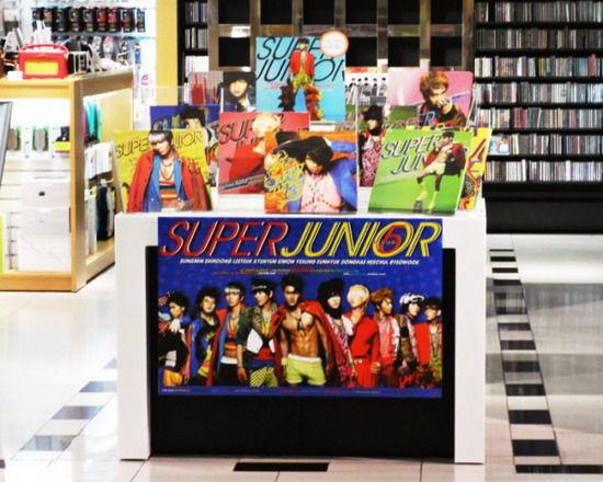 唱片店开辟了SJ销售专区