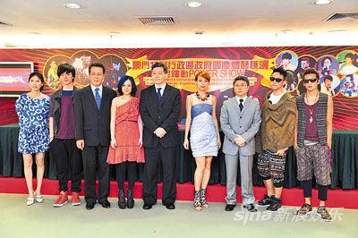 容祖儿、钟欣桐、洪卓立及BOYZ在澳门出席活动