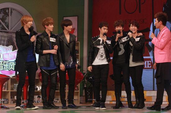 EXO-K到访《音乐风云榜》