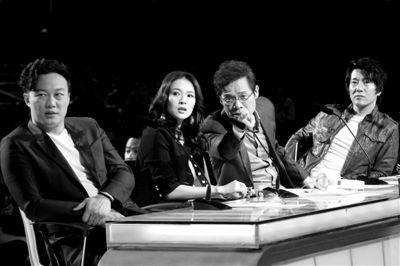 陈奕迅、章子怡、罗大佑、郑钧在节目录制现场。图/CFP