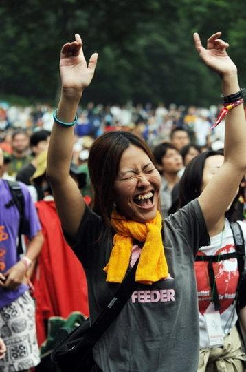 图文:富士音乐节之激情篇--忘情欢呼
