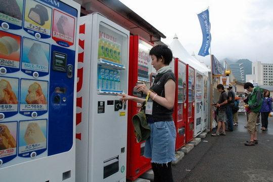 图文:富士音乐节之设施篇--各种自动售货机