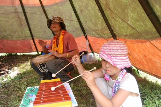 图文:富士音乐节第三天--小演奏家