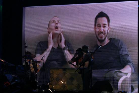 图文:MTV亚洲大奖颁奖礼-林肯公园通过VCR发表感言