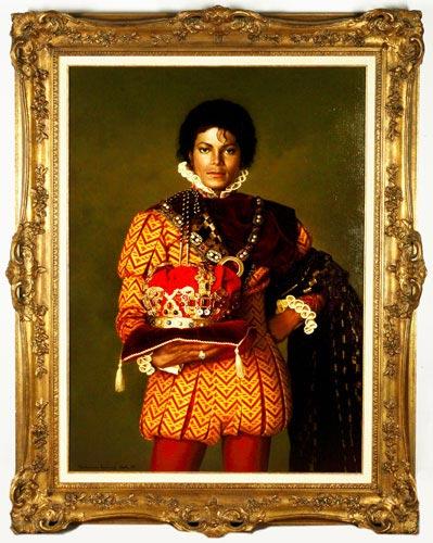 图文:杰克逊拍卖大全--手持皇冠的画像