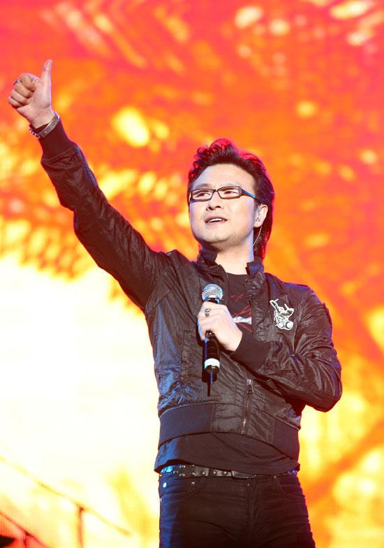 图文:热波音乐节--汪峰赞歌迷