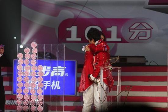 图文:09快女决战--江映蓉胜出李霄云34票
