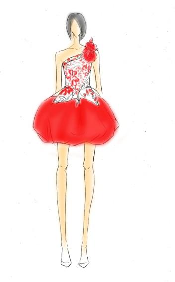 服装:快女巡演1服装西安市建筑设计研究院工商网设计图--黄英映山红图文图片