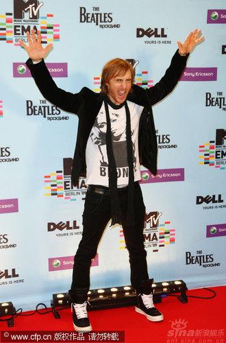 图文:MTV欧洲奖后台-法国DJDavidGuetta