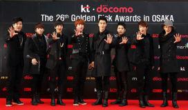 韩金唱片颁奖礼日本举行SuperJunior大赢(图)