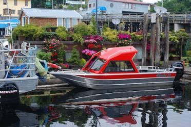 吉布森镇水上船屋照片