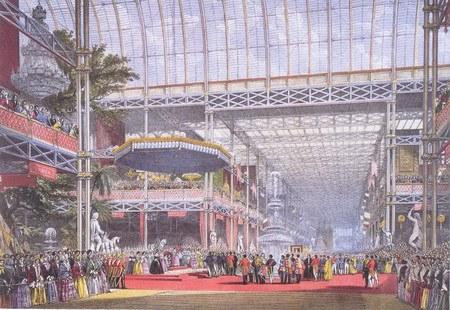 """1851年5月1日的""""万国博览会""""开幕式现场"""