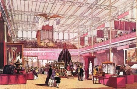 1851年水晶宫世博会的美国展区