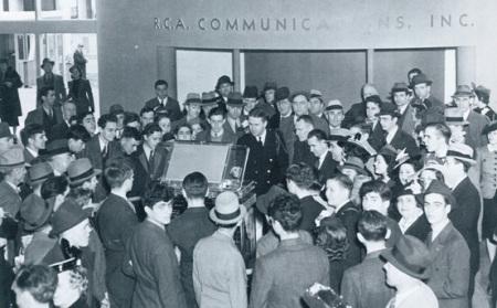 1939年纽约世博会RCA公司的电视机展台