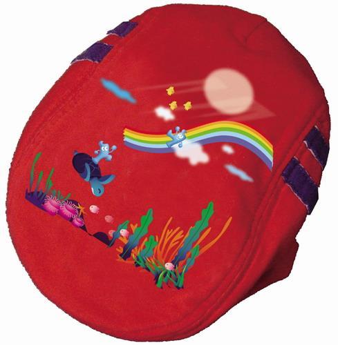 世博海宝-基本篇-大红全棉贝雷帽