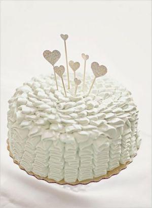 甜蜜小清新风格婚礼蛋糕