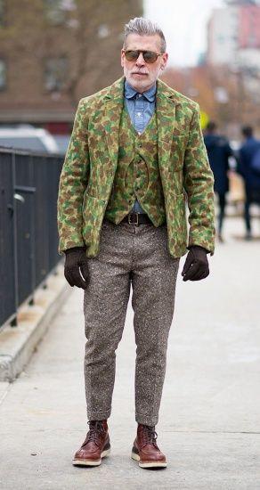 冬季男装鞋裤搭配