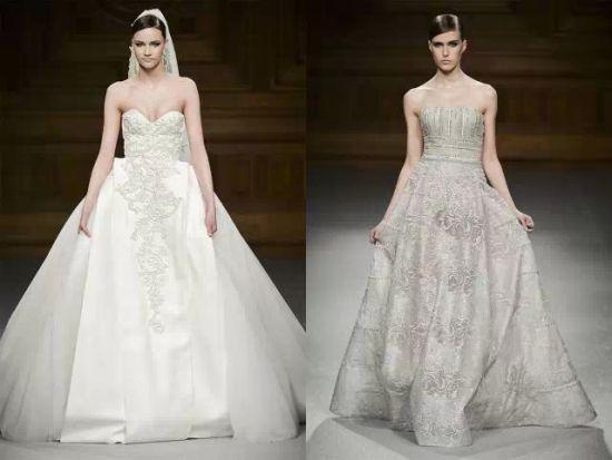 ▲Ralph Russo抹胸刺绣款式的公主裙婚纱,带有一丝性感与魅惑。
