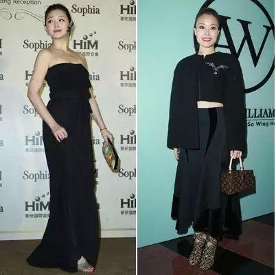 ▲ 容祖儿低调黑色礼服装扮搭配Louis Vuitton手袋,增光添彩。