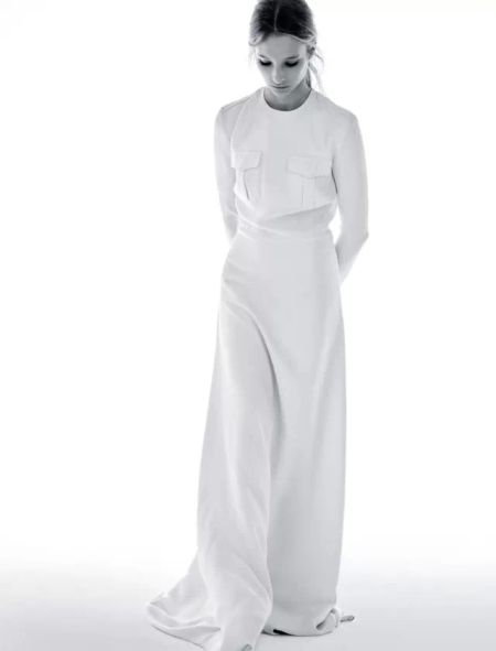 象牙白丝绸长裙 Ralph LaurenCollection