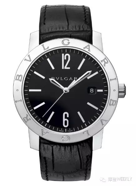 宝格丽 BVLGARI系列男士腕表 表圈正面铭刻的双品牌标志作为其经典设计,大三针+日期显示经典实用。