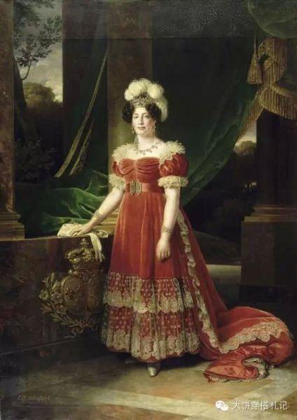 图:Caminade painted a full-length portrait of the Duchesse d'Angoulême