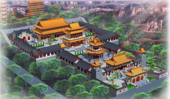 唐宋宫殿建筑手绘