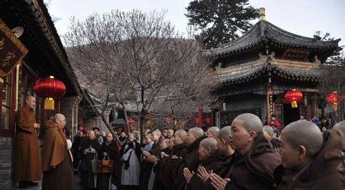 五台山佛教协会会长、黛螺顶住持昌善法师为大众作新春开示