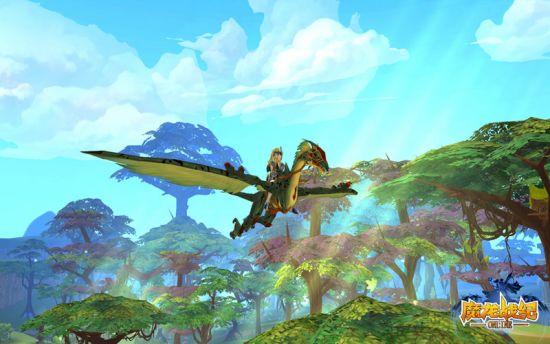 乘坐龙鹰遨游咒语森林