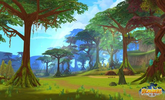 咒语森林梦幻风景