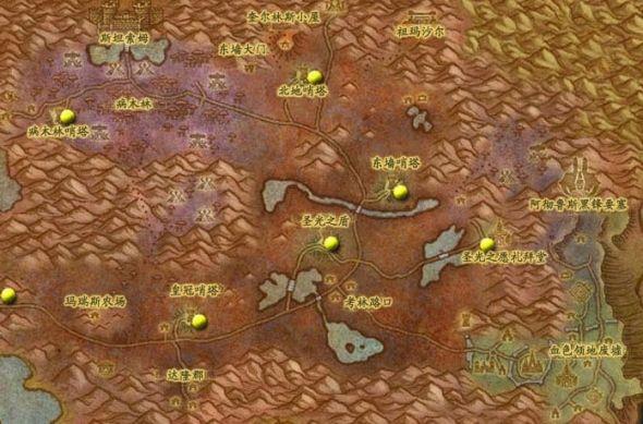 大灾变地图详细位置坐标-东部王国(19)