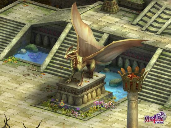 游戏内的巨龙雕像