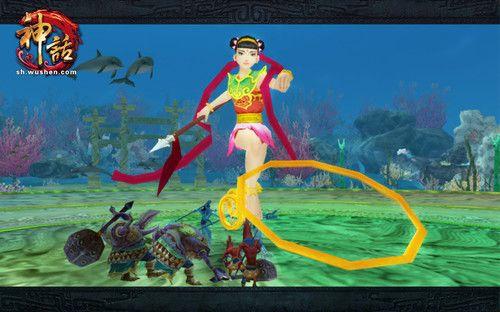 《神话OL》里的哪吒,难怪玩家抱怨只是包了个《神话》的壳