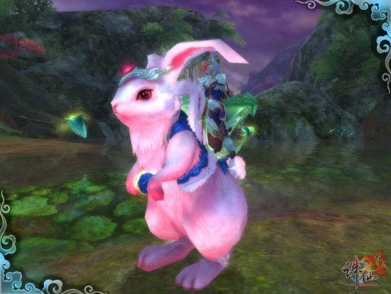 """《诛仙2》游戏内可爱的大灰狼宠物,可爱的""""抱抱""""兔坐骑,专属活动尊号"""